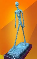 BRONZE STATUE WALKING MAN CONTEMPORARY ART HOT CAST  SCULPTURE